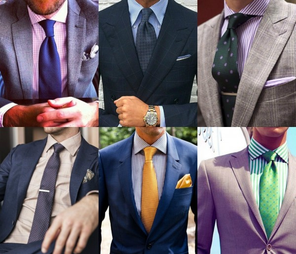 plaid and striped shirts - suits