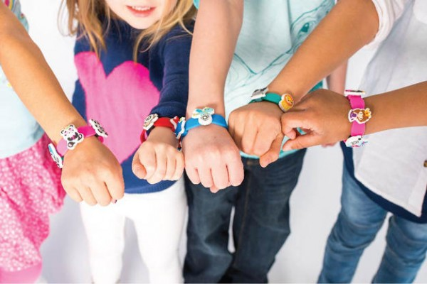 Kudo Banz is a positive reinforcement behavior chart worn on the wrist