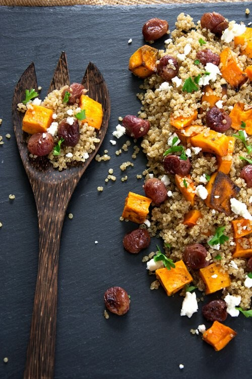 Roasted Butternut Squash Quinoa Salad with Roasted Grapes | The Housewife in Training Files