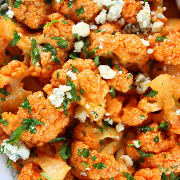 Roasted Buffalo Cauliflower with Blue Cheese Sauce by Holly ...