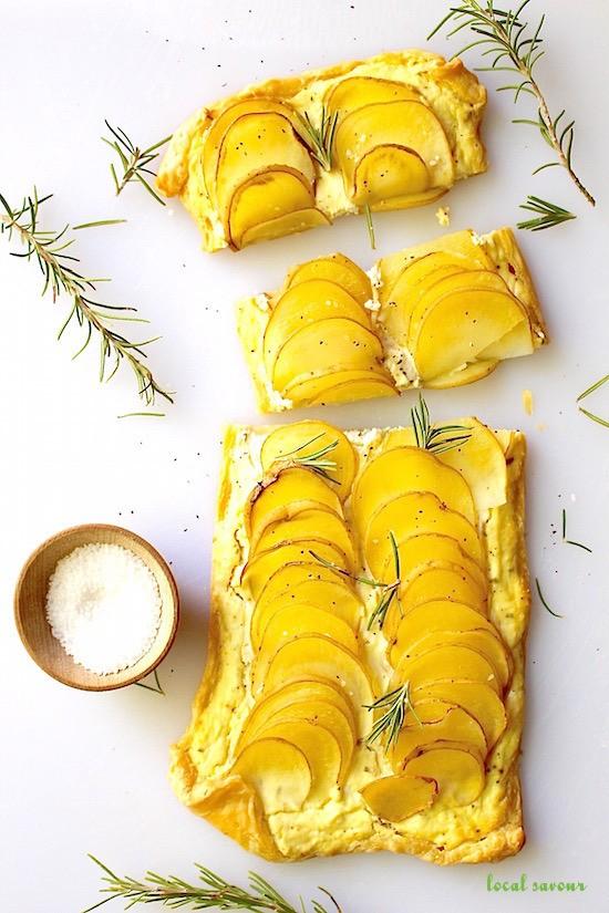 Rosemary + Ricotta Potato Tart | LocalSavour.com