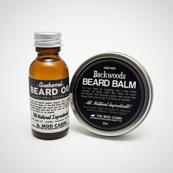 The Mod Cabin Beard Oil + Beard Balm Set