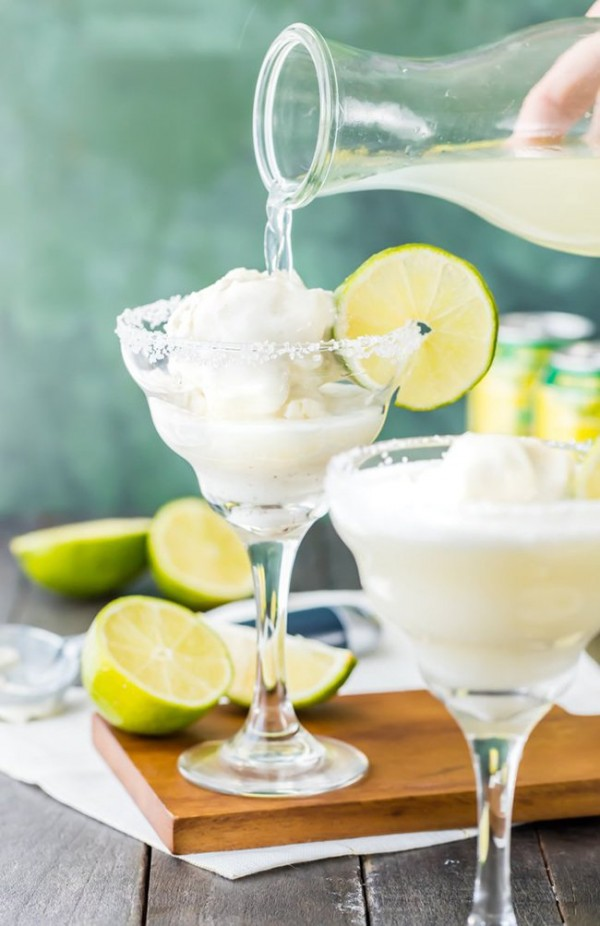 Margarita Ice Cream Floats | The Cookie Rookie