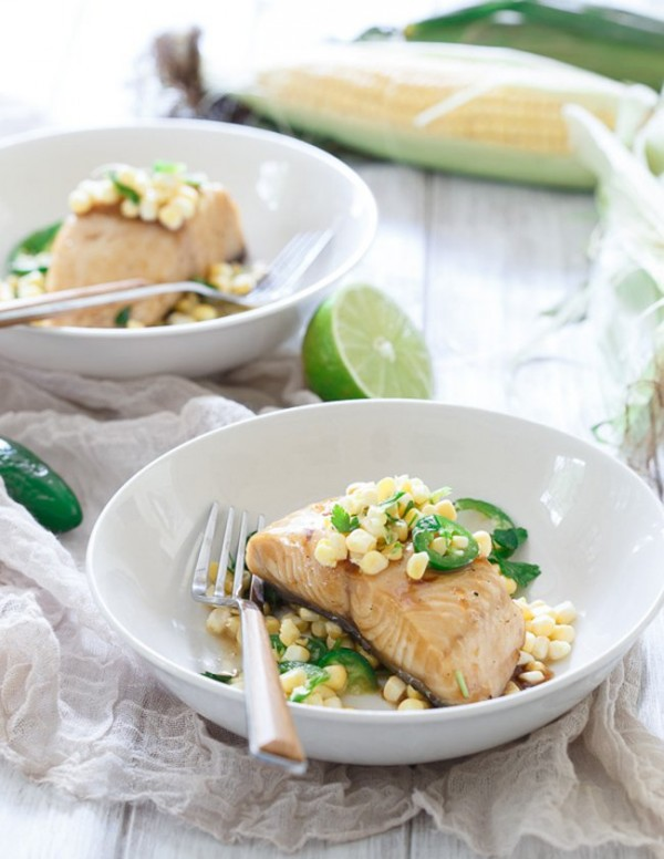Honey Lime Sablefish with Jalapeno Corn Salsa | Running to the Kitchen