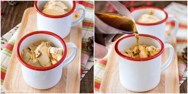 How to Make Salted Caramel Coffee Floats