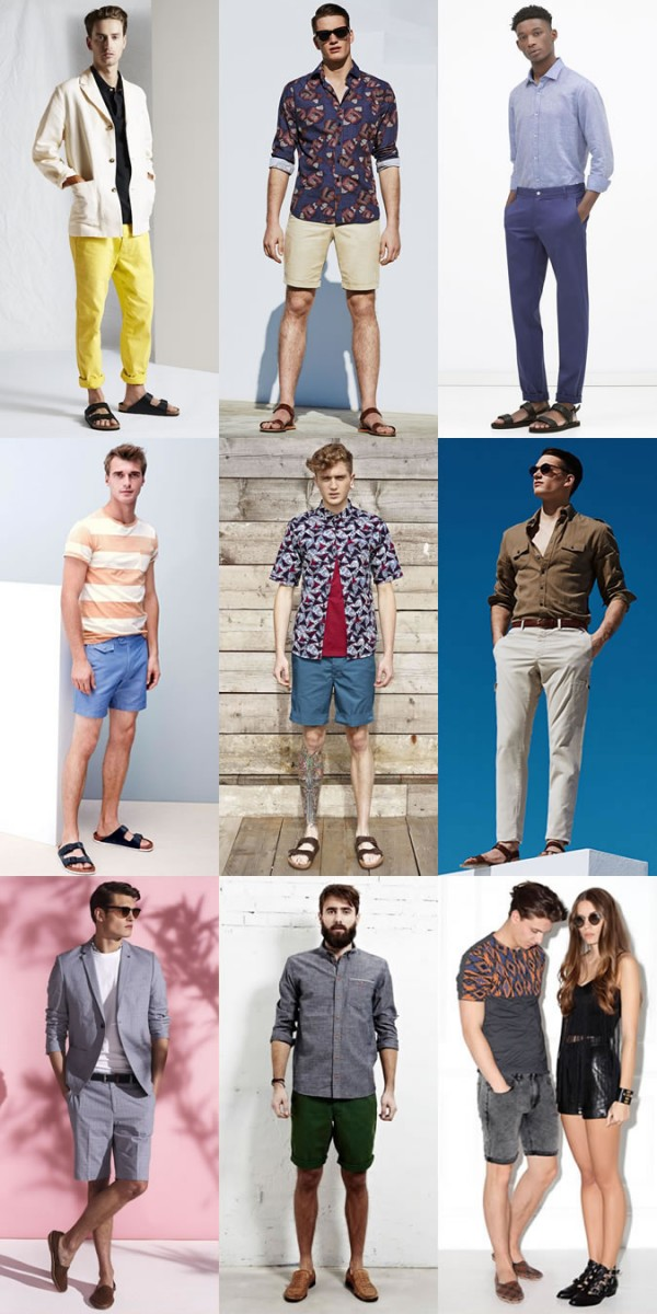Men's Leather Sandals Spring/Summer Outfit Inspiration Lookbook