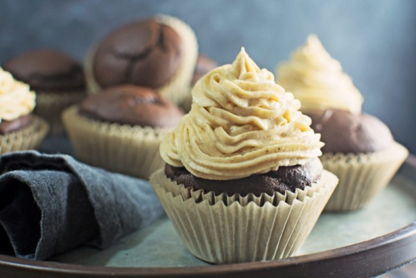 Decadent in every way, Chocolate Pumpkin Cupcakes! Recipe @LittleFiggyFood
