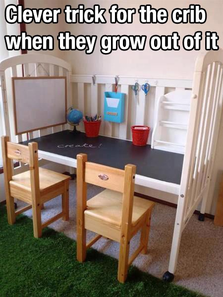 Upgrade that crib once they outgrow it.