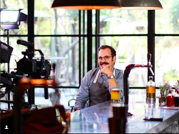 Karl Steuck shooting a Kickstarter video for the then Alkemista project