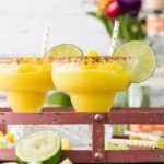 It doesn't get better than SUPER EASY Chili Mango Margaritas! Only 5 ingredients make up this perfect drink, made non-alcoholic or in cocktail form. CHEERS!