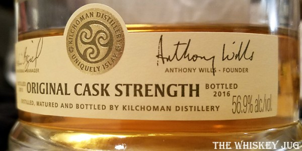 Kilchoman Cask Strength Label