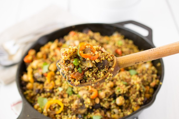 Curry vegetable quinoa