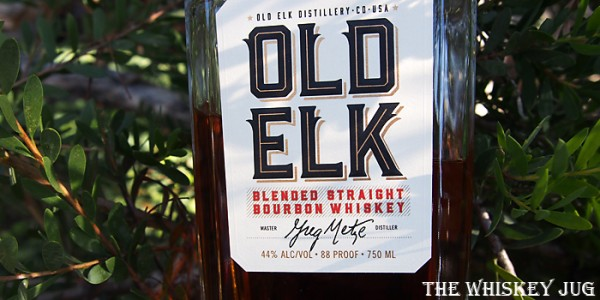 Old Elk Blended Straight Bourbon Label