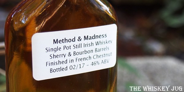 Method and Madness Single Pot Still Label