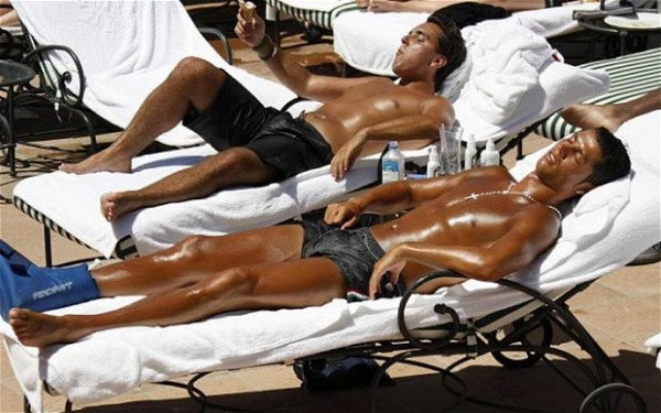 Cristiano Ronaldo Sunbathing