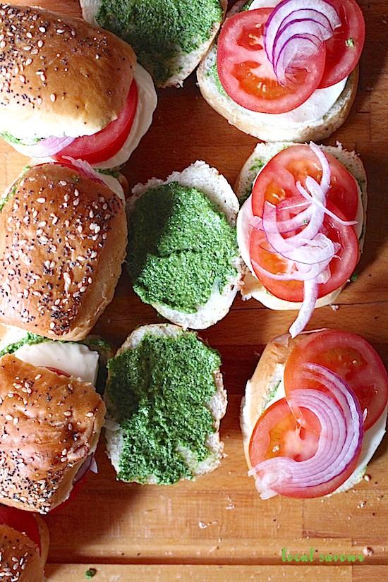 Caprese + Kale Pesto Sliders | LocalSavour.com