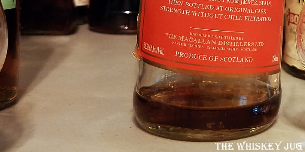 Macallan Cask Strength Red Label Label
