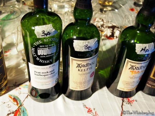 Malt Nuts: 13 Drams of Ardbeg Round 3 - 3A: SMWS Ardbeg 9 years (07-16): 60.2% - 2nd Fill Oloroso, 3B: Ardbeg Kelpie Committee: 51.7% - various including Virgin oak