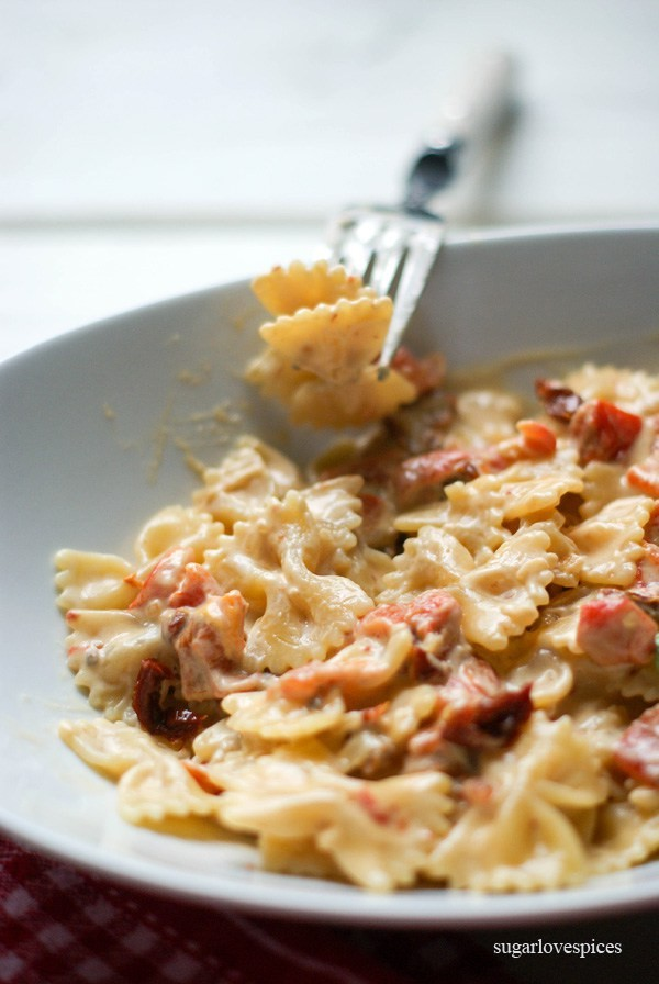 Farfalle with Sun-dried Tomato and Roasted Red Pepper Cream Sauce by ...
