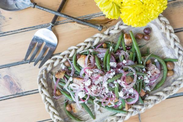 Green Bean Panzanella Salad