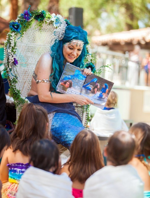 Mermaid Story Time at Fairmont Scottsdale Princess. Photographed by Jill Richards