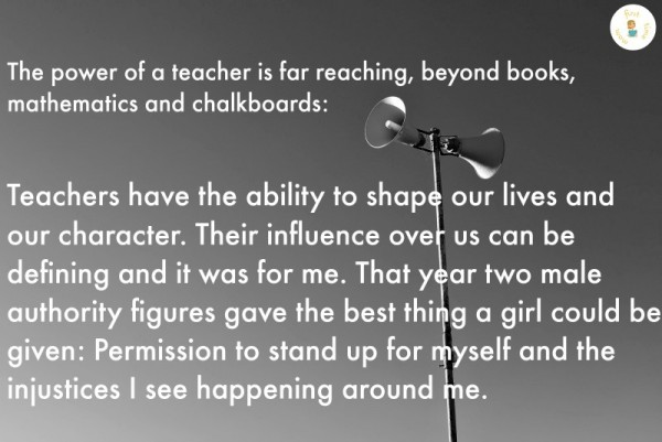 The power of a teacher is far reaching.
