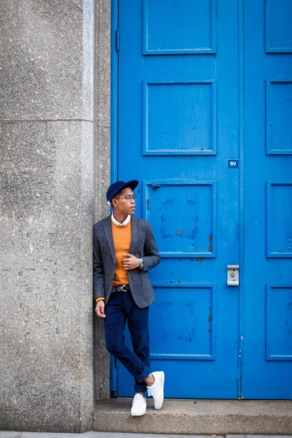 mens casual wool blazer