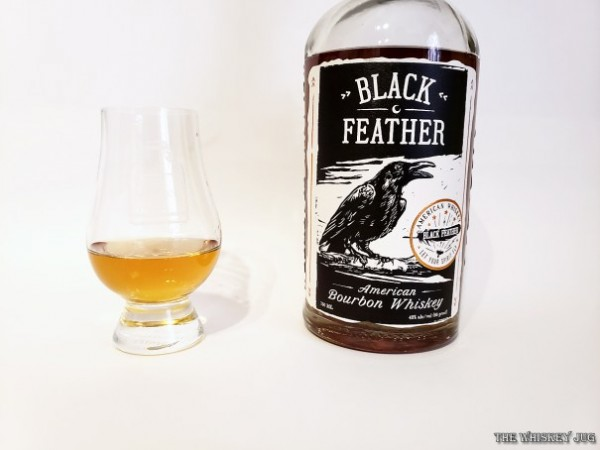 Black Feather American Bourbon Whiskey is a sourced bourbon mixing two different ages of whiskey. The whiskey comes from MGP.