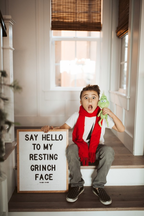 child with grinch