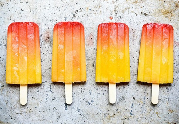 Spicy Tequila Sunrise Popsicles | Floating Kitchen