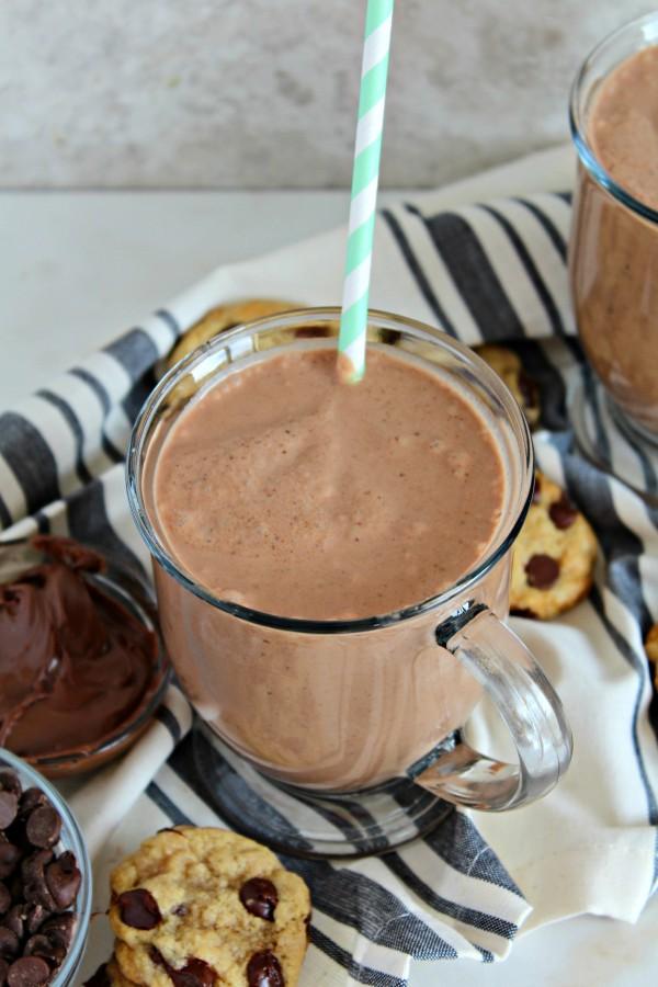 Chocolate Chip Cookie & Nutella Coconut Milkshake