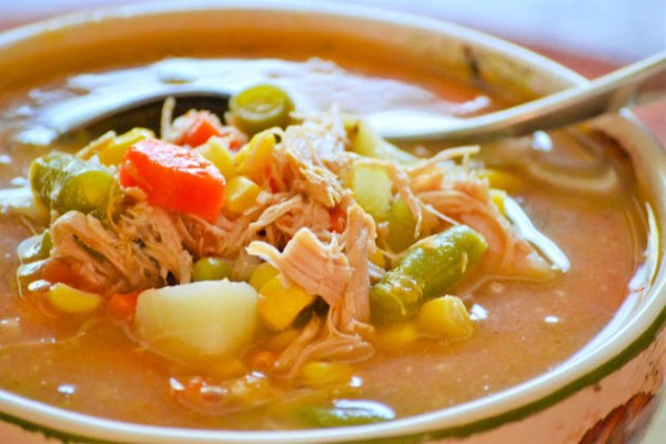 Turkey Vegetable Soup Photo