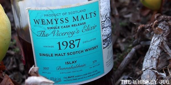 Wemyss The Viceroy's Elixir 1987 Bunnahabhain 29 Years Label