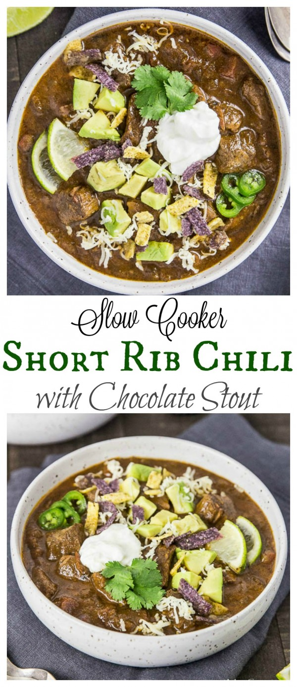Short Rib Chili with Chocolate Stout - Slow Cooker-long pin2