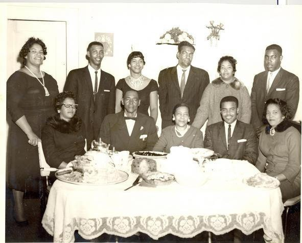 My paternal Grandparents with their children-and my Father during the annual Chadwick homecoming, circa: 1960.