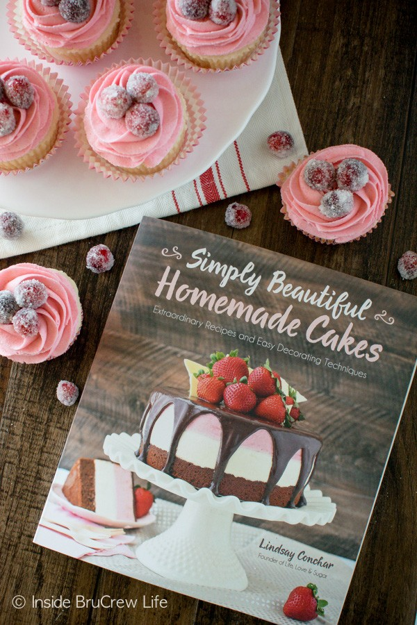 These Sparkling Cranberry White Chocolate Cupcakes from Simply Beautiful Homemade Cakes are a great recipe for the holidays!