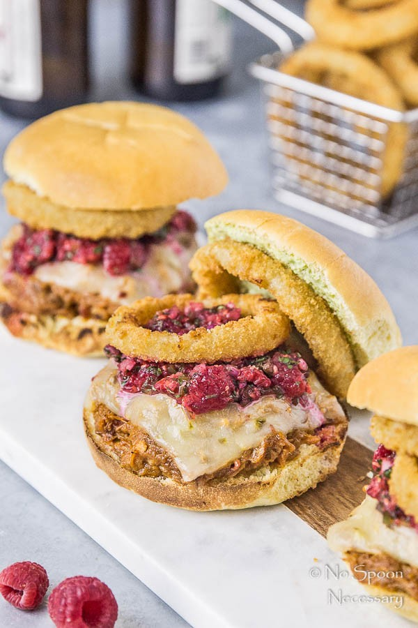 BBQ Pulled Pork Sandwich with Raspberry Salsa & Cilantro-Lime Aioli-129