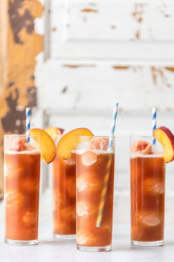 Peach Tea Ice Cream Floats | The Cookie Rookie