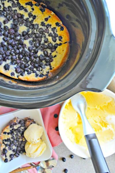 Slow Cooker Blueberry Cobbler Image