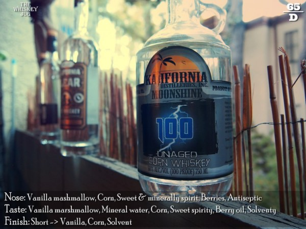 Kalifornia Distilleries Corn Whiskey Review