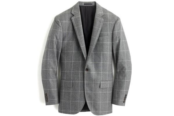 Crosby Suit In Windowpane Italian flannel