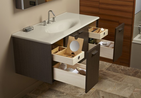 bathroom counter shelves