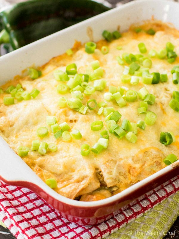 This layered chile relleno casserole with chicken is the definition of ...