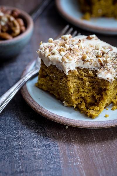 Bourbon Chai Pumpkin Snack Cake Image
