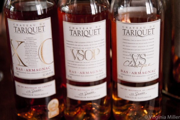 Just a few of the Armagnacs I tasted through from Domaine du Tariquet