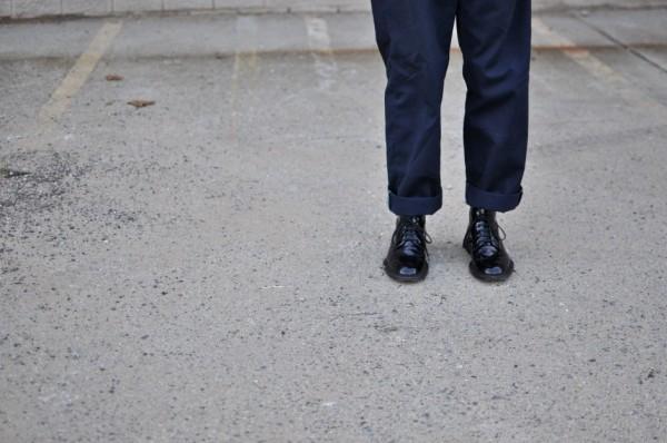 Saint Laurent shiny leather lace-up boots