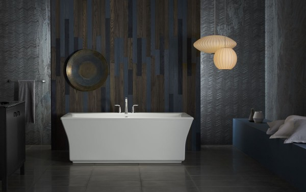 Stargaze freestanding bath      Refinia bath faucet trim    The clean lines and straight shroud of the Stargaze® bath make the ideal complement to a wide range of decor styles.