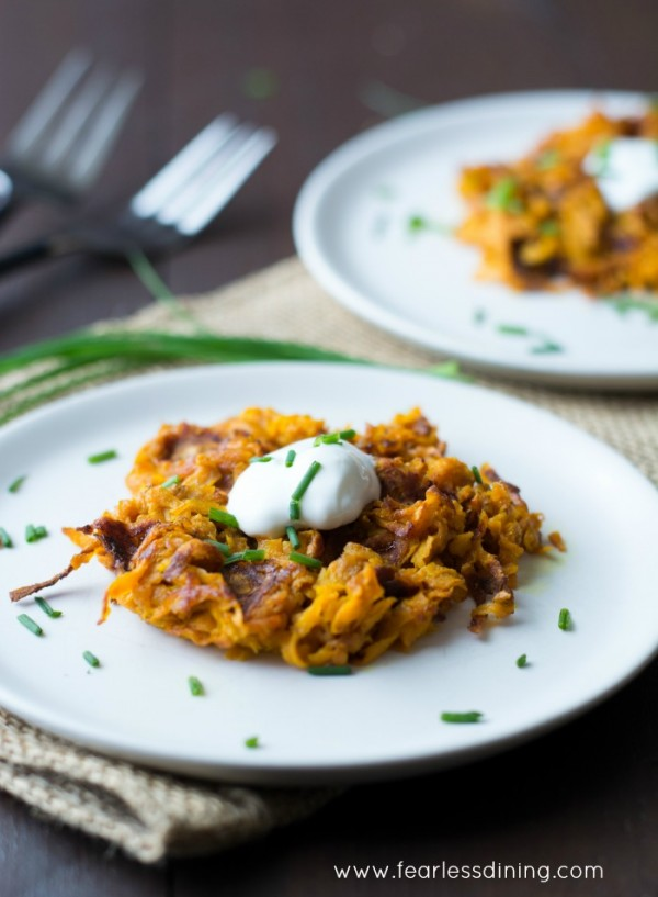 Curried Sweet Potato Hash Brown Waffle hero