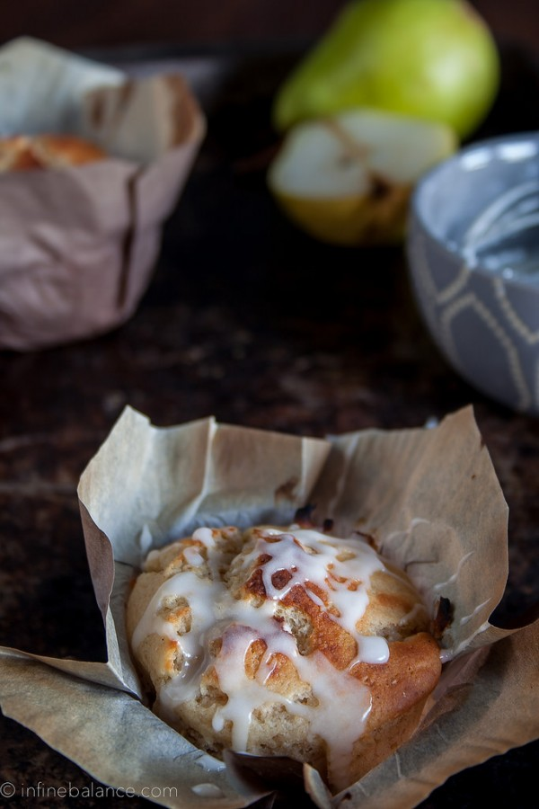 Pear and Cardamom Muffins | infinebalance.com #recipe