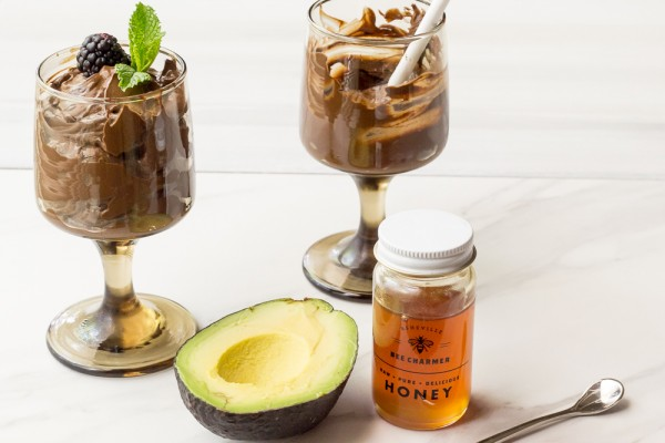 Avocado Mousse has a rich chocolate flavor and is lightly sweetened with honey.